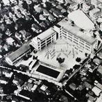 杉並第六小学校 昭和46年の空撮(提供:杉並第六小学校)