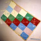杉並の水爆禁止署名運動を称えてイタリアの女性団体から贈られた旗(1955)