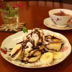 クランペットは写真のチョコバナナのほか3種類