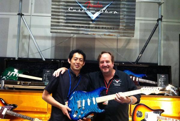 TOKYO GUITAR SHOW。フェンダーカスタムショップのマイク・エルドレット氏と