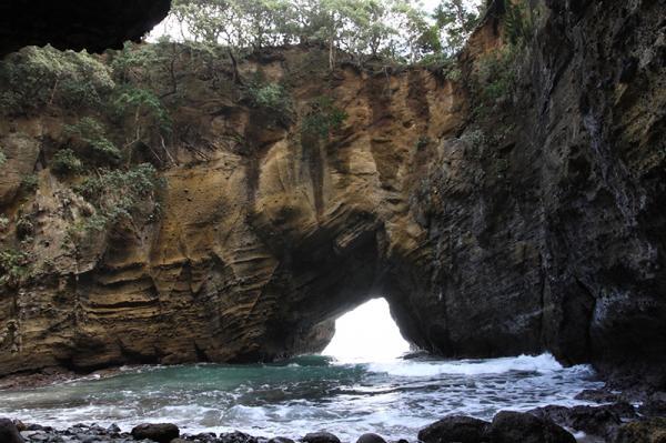 洞窟内を見物できる竜宮窟