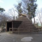 不燃化材で再現された竪穴住居