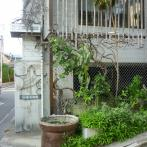 窓を飾る竹が趣をそえる外観