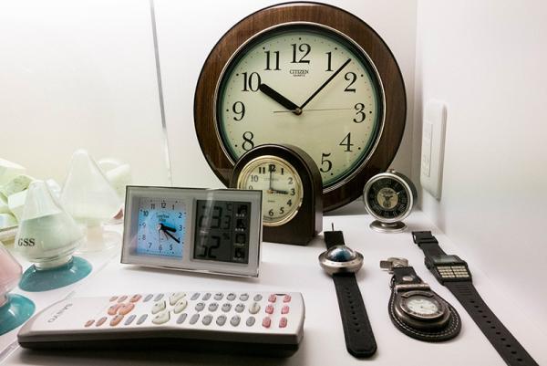 蛍光体時計事業の製品例