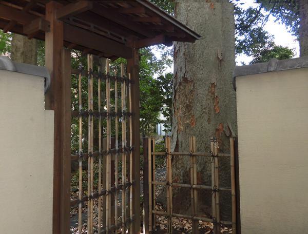 移築後、現在残っている御小休所の建物。内部は公開されていない