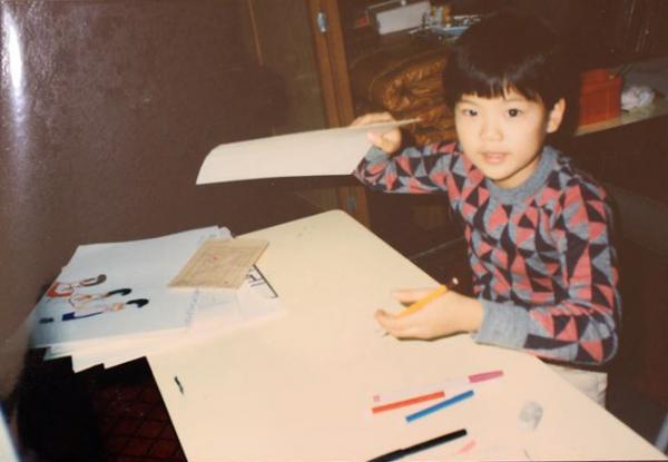 絵画教室での様子(小学3年生の頃)