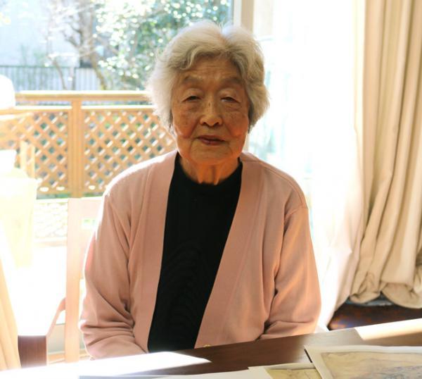 孫娘の江渡雪子さん